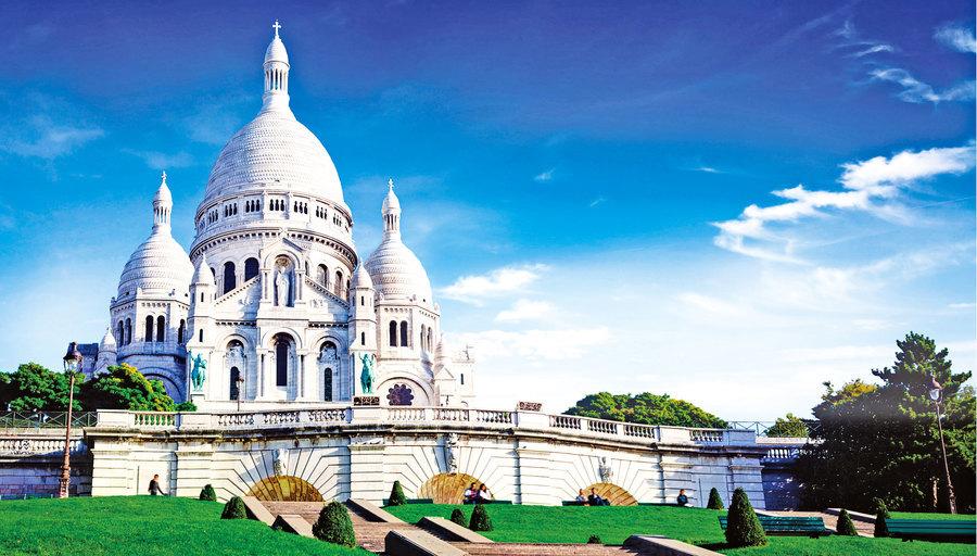 晶瑩剔透的白教堂 巴黎聖心大教堂
