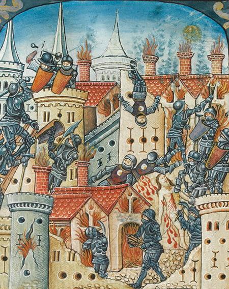 羅馬人攻陷並摧毀耶路撒冷。(公有領域)