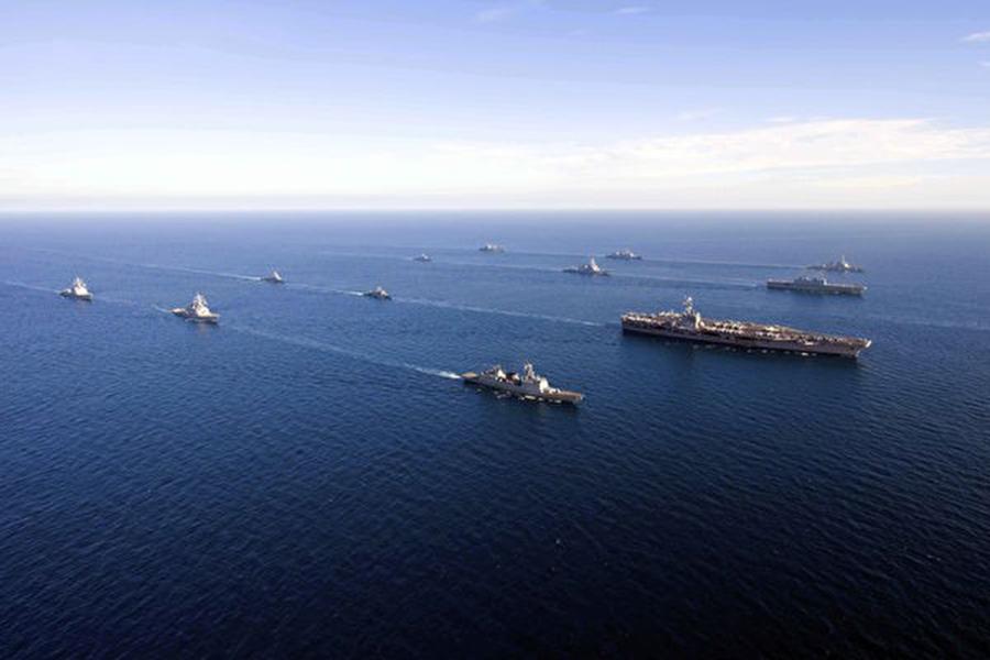 美軍近期加強太平洋地區軍事部署,防禦中共軍事擴張。(U.S. Navy photo)