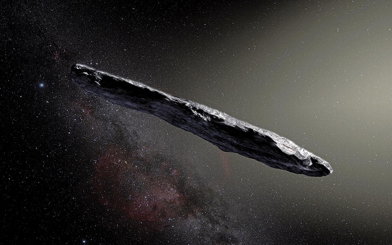 哈佛大學天文學家表示,去年在太陽系中發現的一個神秘雪茄形物體,可能是一艘被派去調查地球的外星人探測器(Alien probe)。(ESO)