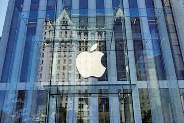 蘋果公司近期股價跌跌不休,自歷史高峰已回跌近20%,落入熊市領域。(AFP)