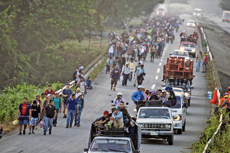 「大篷車」陸續抵美墨邊境
