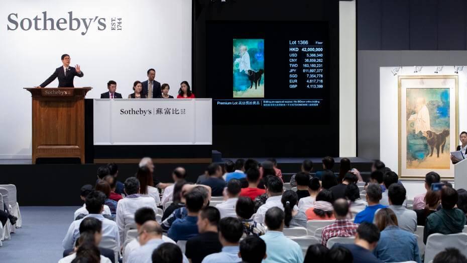 香港蘇富比拍賣  張大千連奪三甲