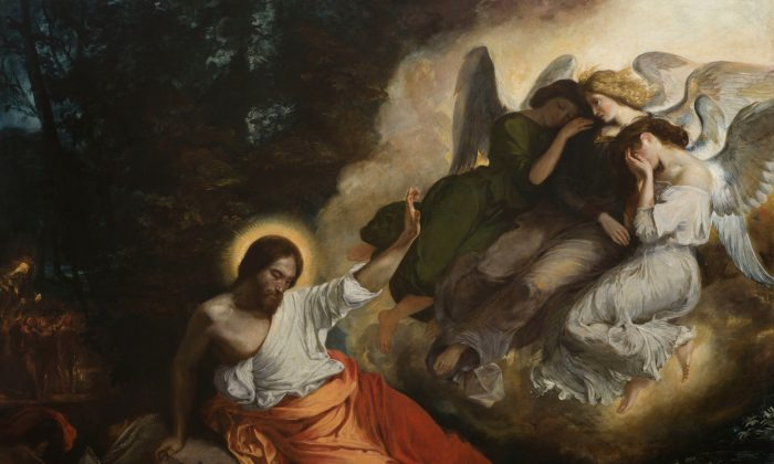 巴黎圣保羅聖路易斯教堂的《橄欖園內的基督》(1824–26)(德拉克洛瓦美術館)