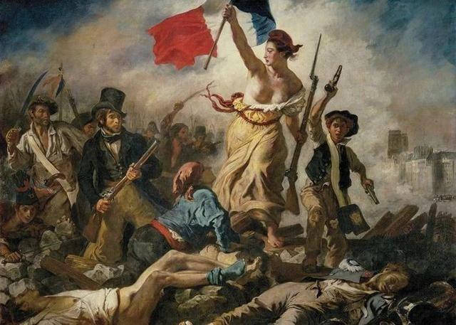 《自由引導人民》為德拉克羅瓦的代表作 ,被視為羅浮宮的鎮館之寶。(羅浮宮博物館)