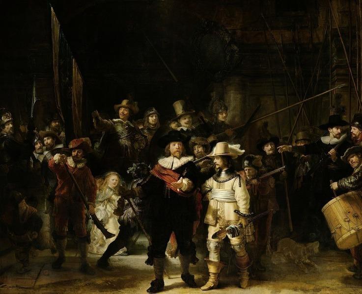網上直擊林布蘭名畫《夜巡》修復工程