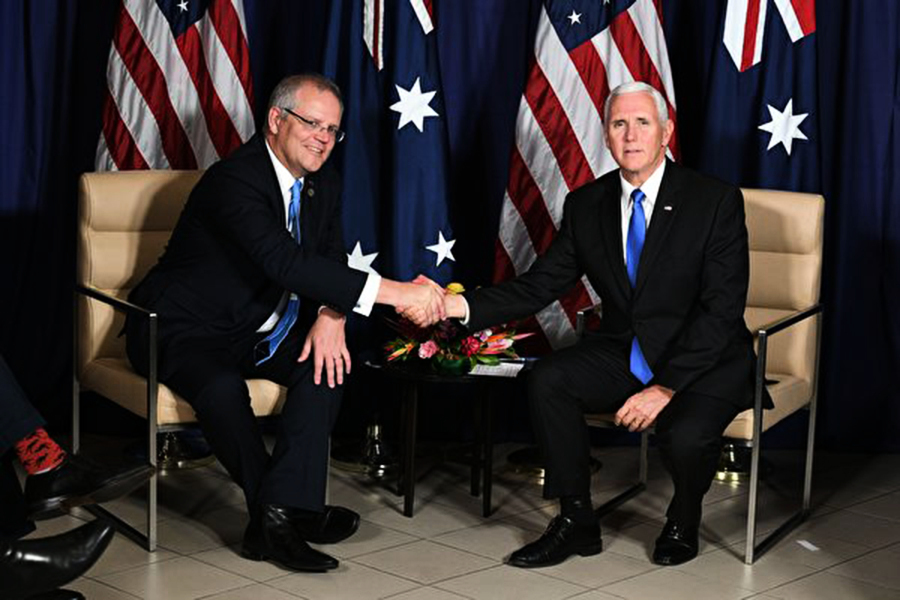 美澳APEC宣布共建巴新基地 強化印太戰略