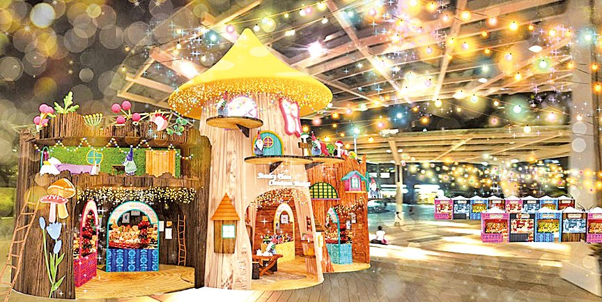 今年赤柱聖誕市集以芬蘭神話、精靈為主題。(Viennchan提供)