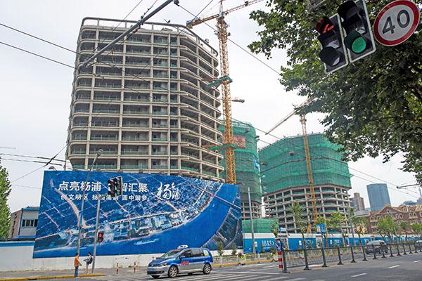 中國上海的一處建築工地。(Getty Images)
