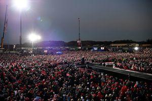 組圖:特朗普與拜登在賓州競選集會對比