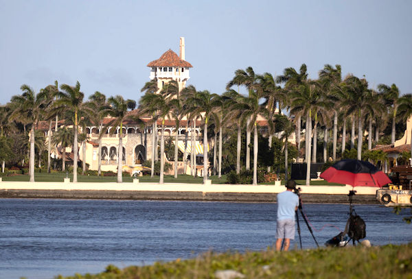 特朗普的私人物業、位於佛州棕櫚灘的海湖莊園(Mar-a-Lago)。(Joe Raedle/Getty Images)