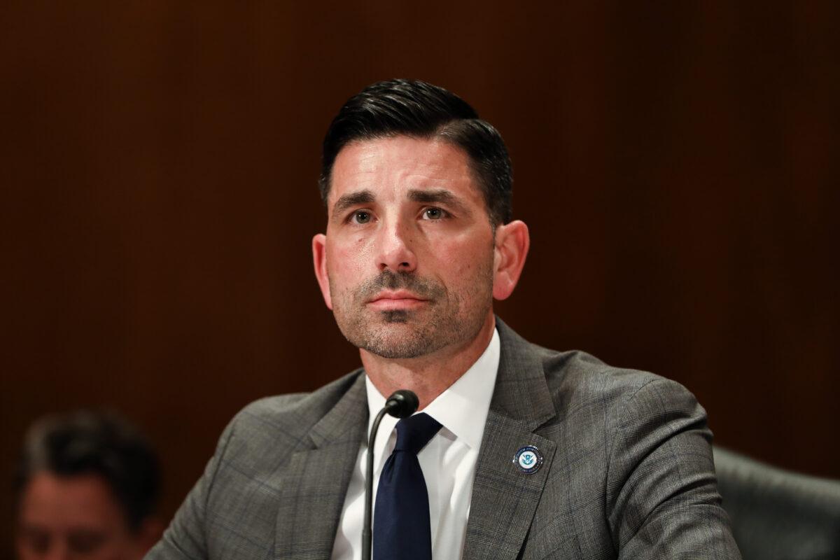 美國國土安全部代理部長查德·沃爾夫(Chad Wolf)表示,中共的目標是要顛覆美國人的生活方式。圖為沃爾夫資料圖。(Charlotte Cuthbertson/The Epoch Times)