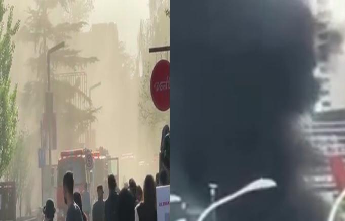 4月18日,北京(左)、上海(右)均傳出火情。(影片截圖合成)