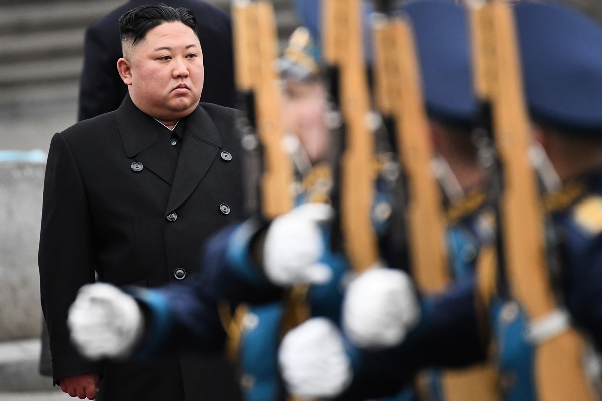 圖為金正恩。(KIRILL KUDRYAVTSEV/AFP via Getty Images)