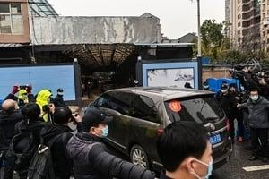 組圖:世衛專家到武漢調查 中共如臨大敵