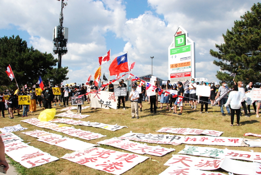 組圖:多倫多集會聲援香港反「國安法」