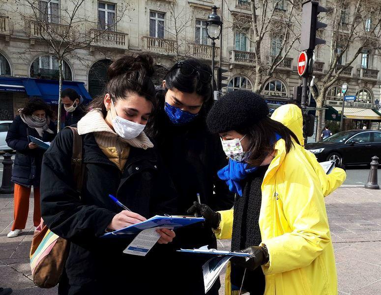巴黎人譴責中共強摘器官:對人類尊嚴的侵犯