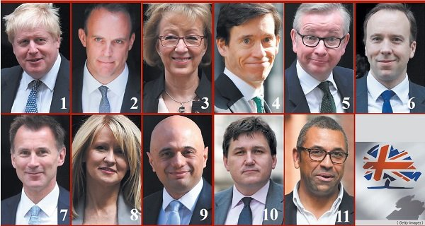 英國11人宣佈角逐保守黨領袖。(Getty Images)