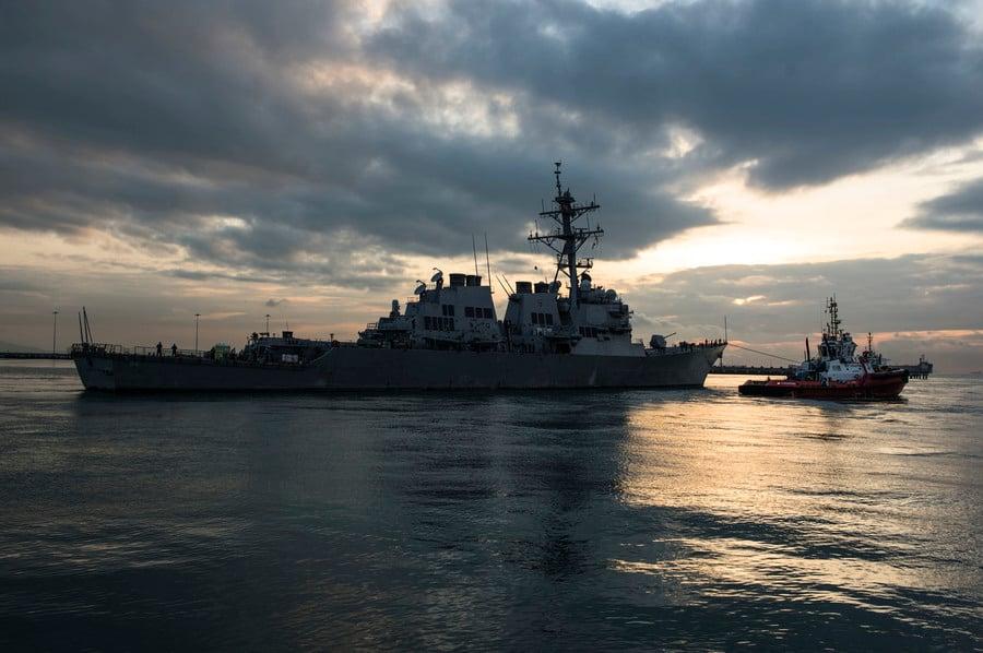 新年前夕 美軍兩艘導彈驅逐艦穿越台灣海峽