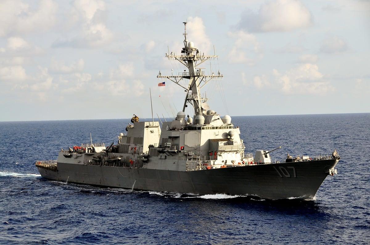 美國海軍的神盾驅逐艦。(U.S. Navy via Getty Images)
