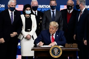 特朗普稱疫苗進展現「奇蹟」 可「終結疫情」