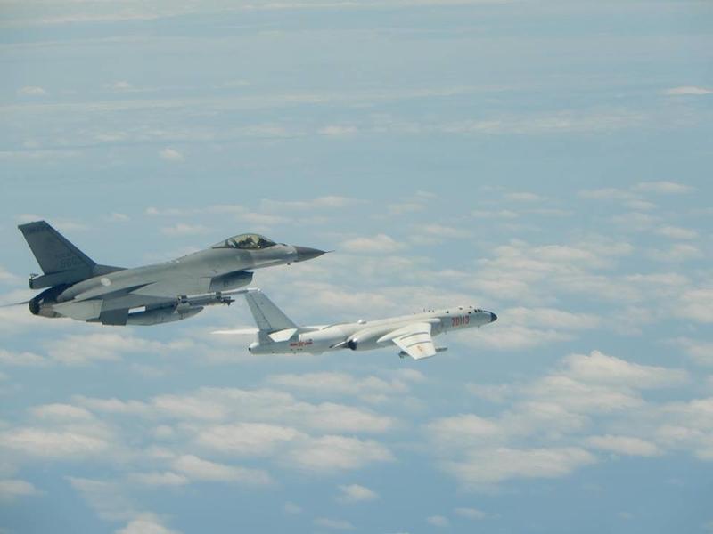 中共軍機以前繞台的情況。(空軍司令部提供)