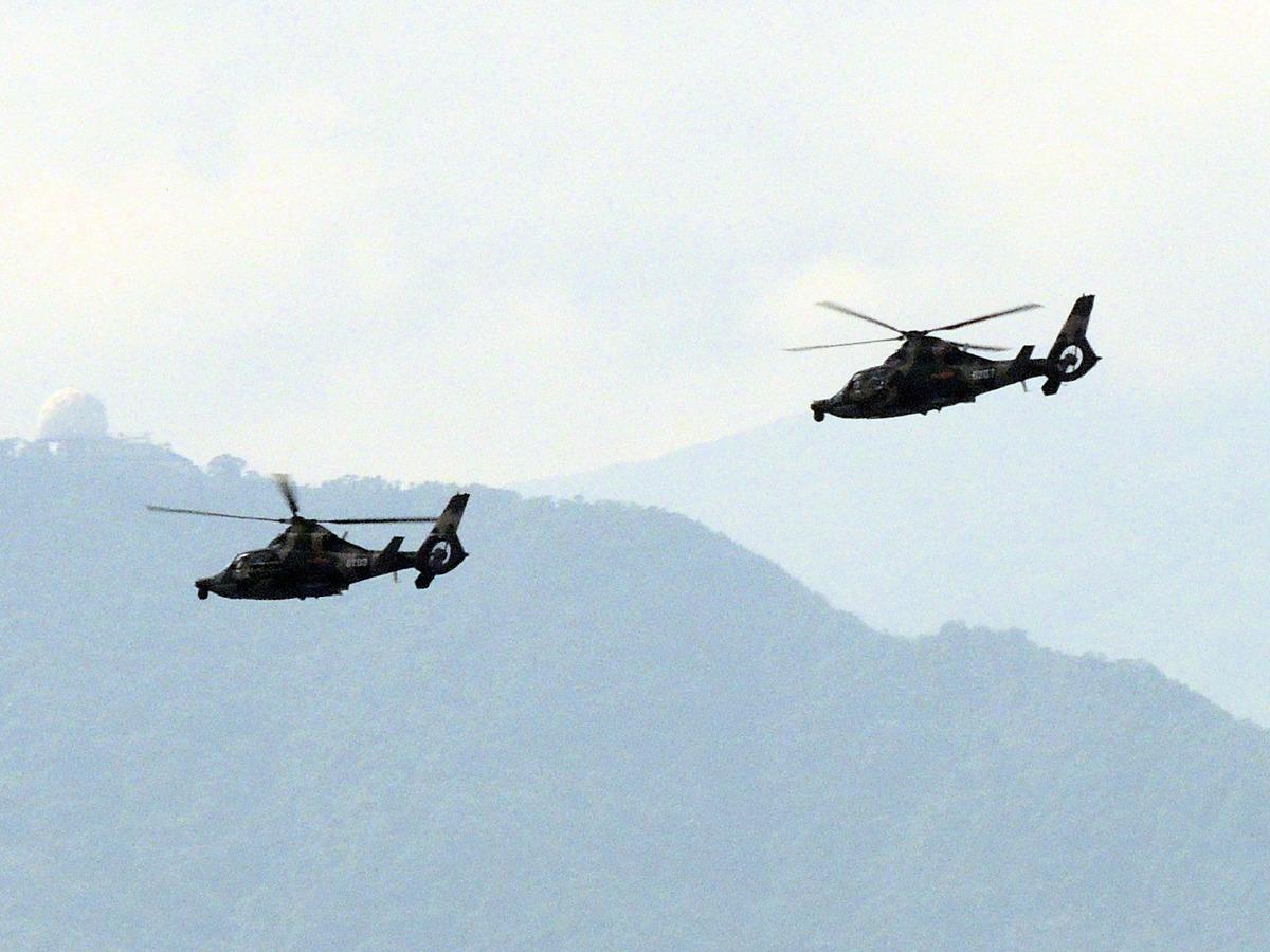 駐港部隊一架直升機在執行飛行訓練任務時失事。圖為駐港部隊直-9W武裝直升機。(Tksteven/維基共享資源)