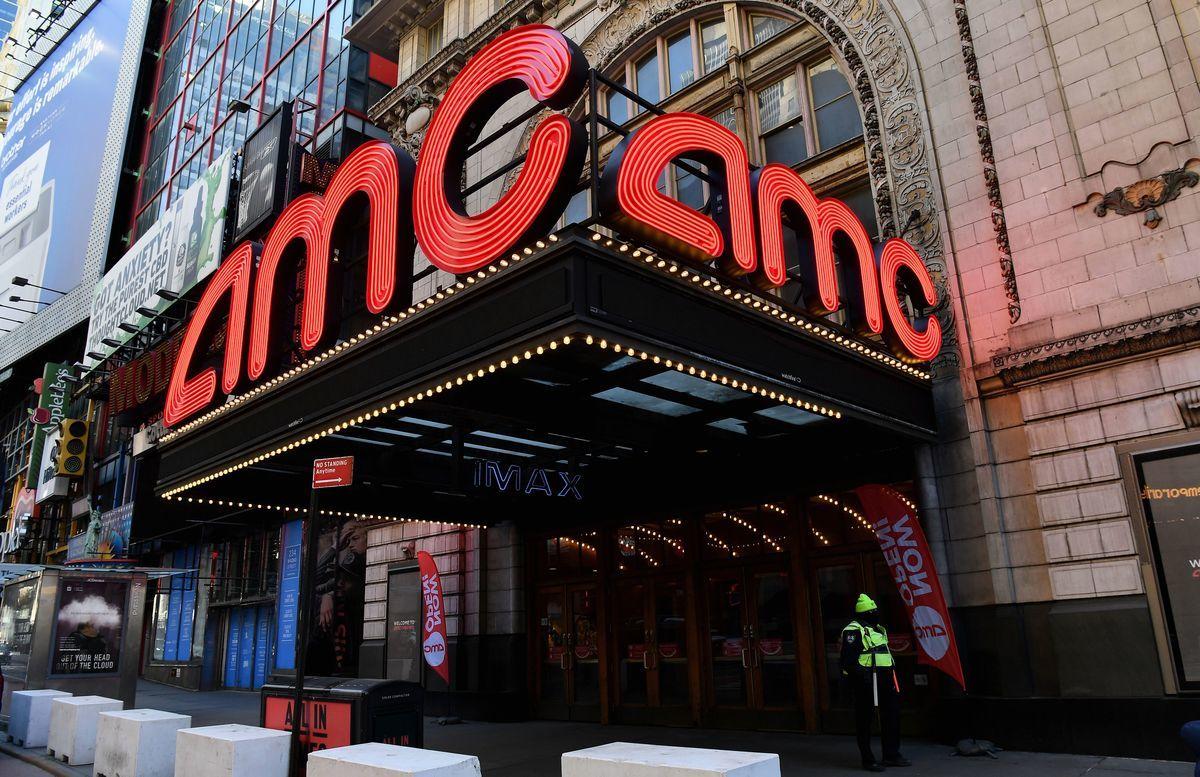 紐約市的一家AMC電影院。(ANGELA WEISS/AFP via Getty Images)