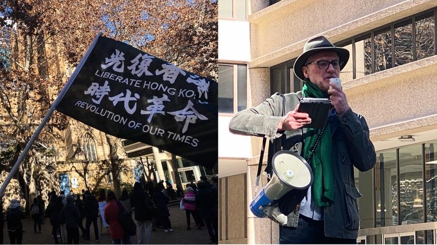 澳人紀念反送中兩周年 參議員與港人並肩作戰