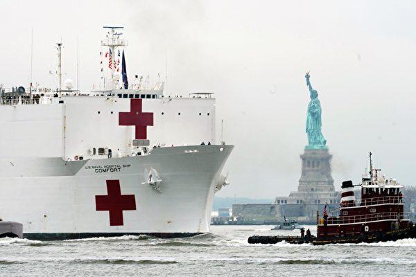 美國海軍「安慰號」(USNS Comfort)。(Getty Images)