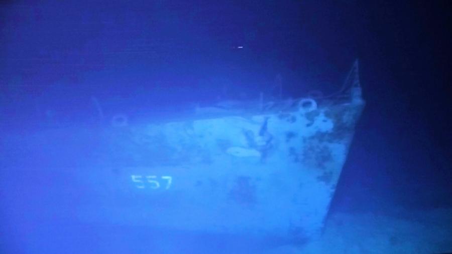 沉睡海底近6500米 美軍二戰驅逐艦現蹤