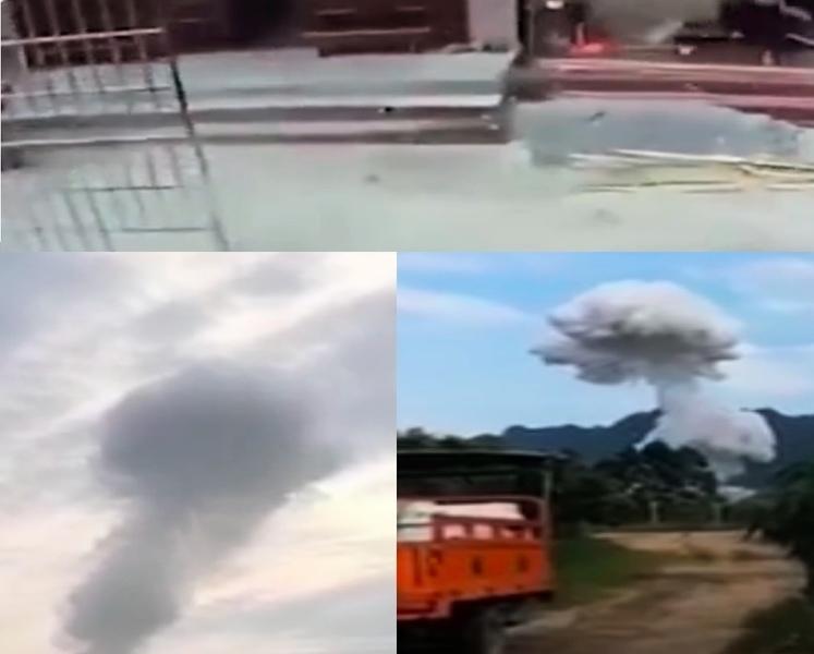 廣西百色爆炸現「蘑菇雲」 致1死3傷