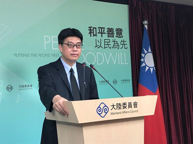 圖為台灣陸委會發言人邱垂正,資料照。(中央社)