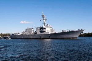 美中印太角力 美軍最新導彈驅逐艦抵日本