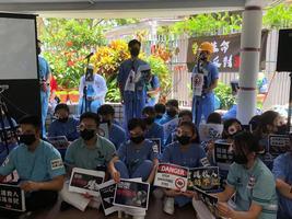 香港醫護人員再集會 要求港府「尊重生命」