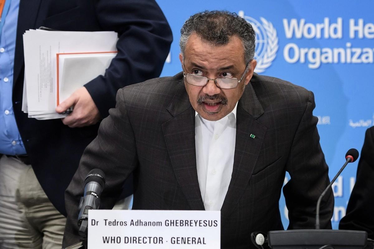 世界衛生組織(WHO)1秘書長譚德塞(Tedros Adhanom Ghebreyesus)。(攝於2020年1月30日)(FABRICE COFFRINI/AFP)