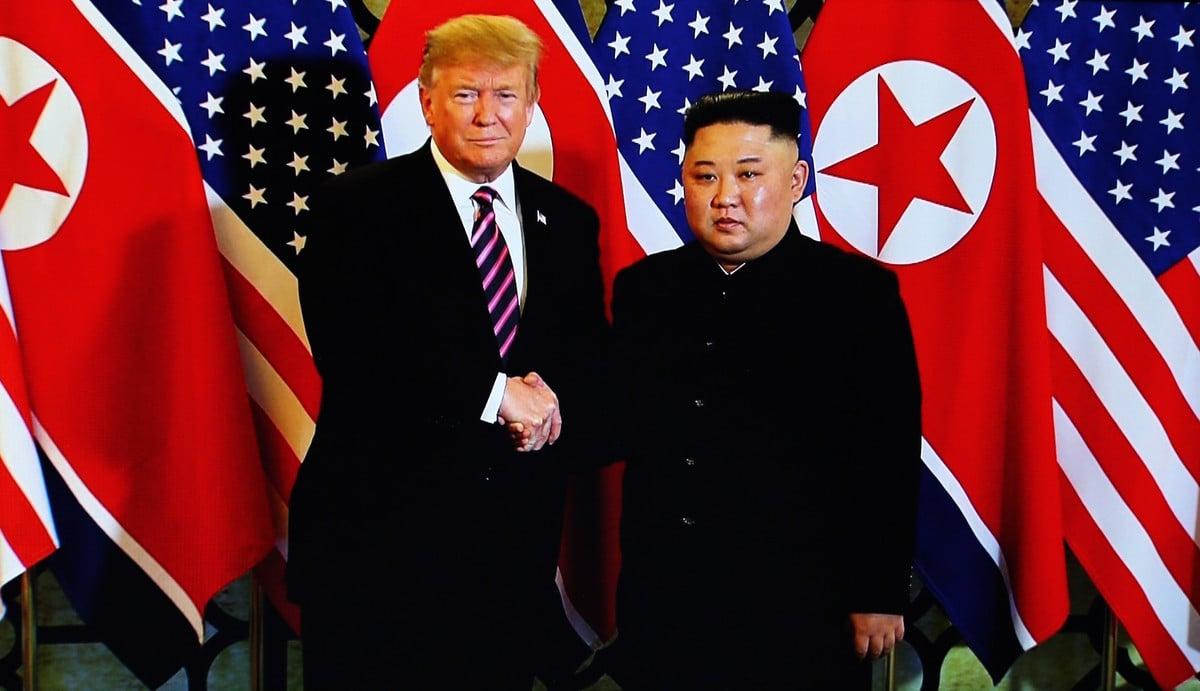 美國總統特朗普或將於韓朝邊境與金正恩見面。(Vietnam News Agency/Handout/Getty Images)