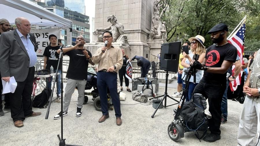 紐約中央公園集會:抵制中共就是抵制病毒