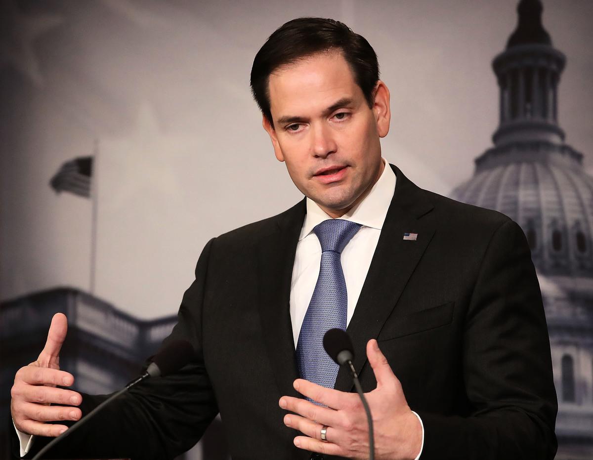 美國共和黨國會參議員魯比奧(Marco Rubio)。(Mark Wilson/Getty Images)