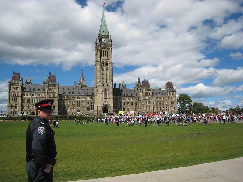 圖為加拿大國會山。(Getty Images)