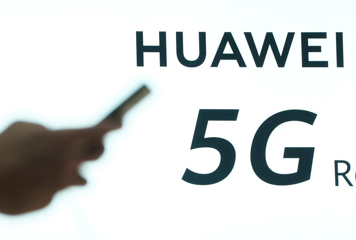 華為的5G基站設備高度依賴美、韓、日、台灣的產品。(Sean Gallup/Getty Images)