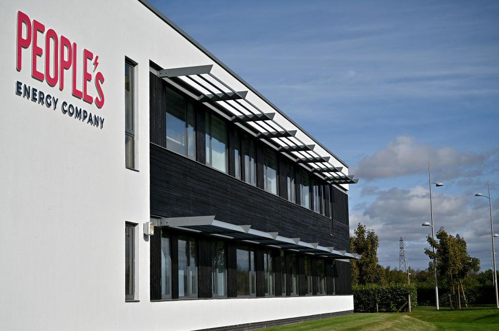 2021年9月20日,在蘇格蘭達爾基斯(Dalkeith),可以看到已經倒閉的英國能源公司「People's Energy」的辦公室概貌。(Jeff J Mitchell/Getty Images)
