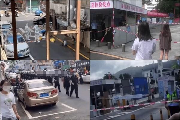 深圳市周四(6月17日)新增5宗中共病毒感染病例,有確診機場女服務員居住的下十圍村被封閉。(知情者提供)