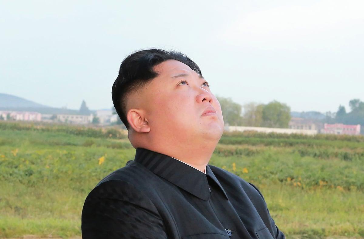 脫北到南韓的北韓少將之子表示,當今的北韓年輕一代不會效忠金正恩。圖為金正恩。(STR/AFP/Getty Images)