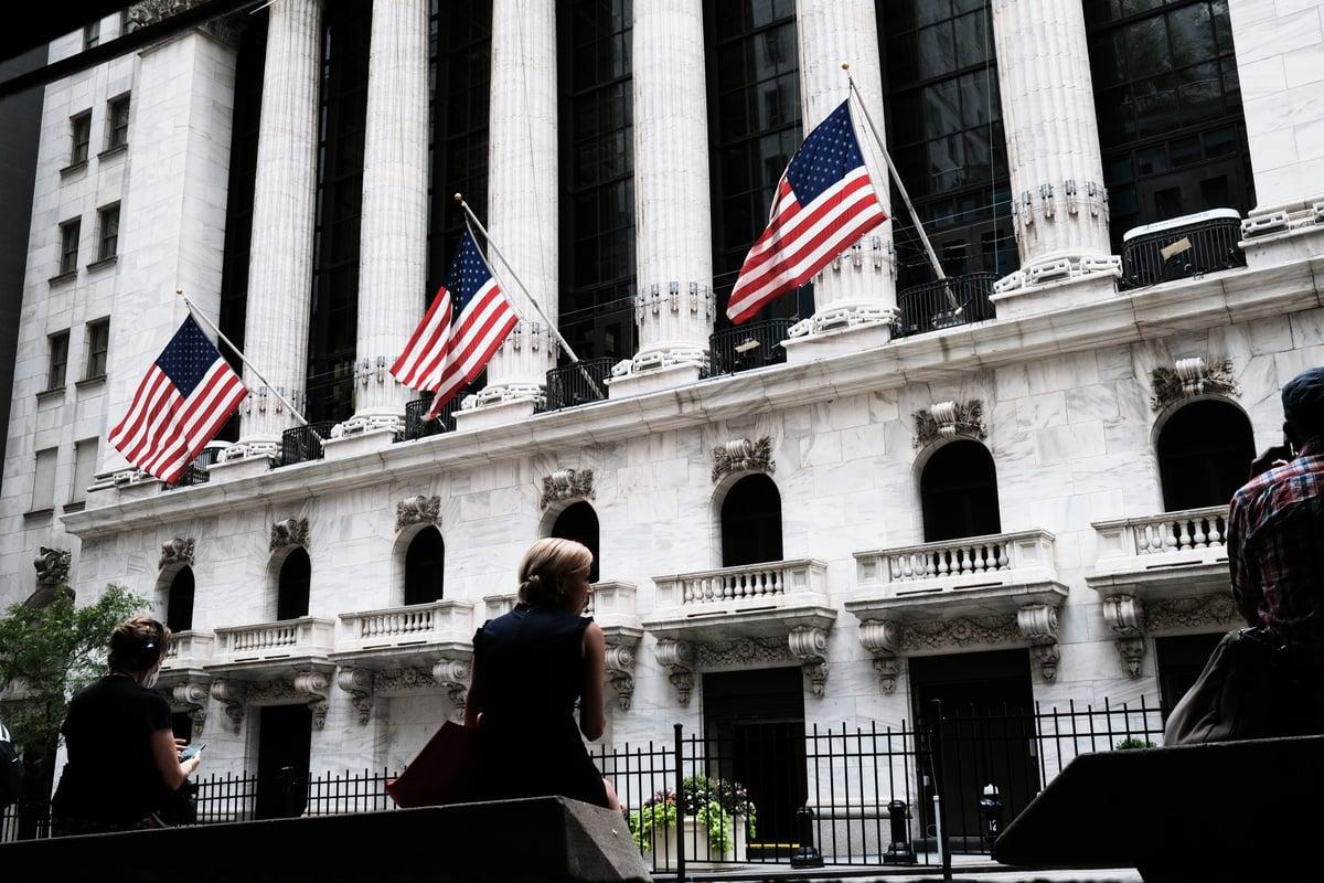 美國股市首次公開招股(IPO)的募資金額在2020年創下紀錄。圖為紐約證交所。(Spencer Platt/Getty Images)