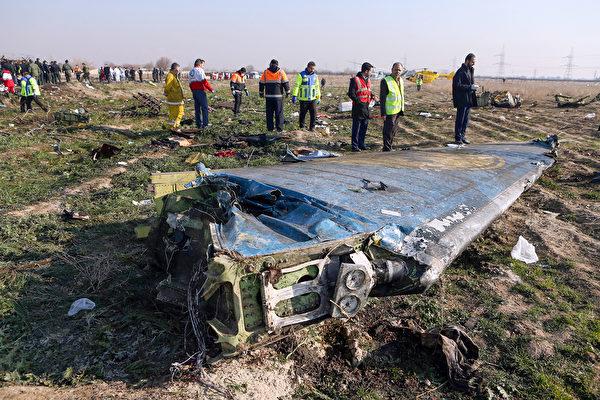 伊朗政權1月11日承認烏航飛機因遭伊朗導彈擊中而墜機。 (Akbar TAVAKOLI / IRNA / AFP)
