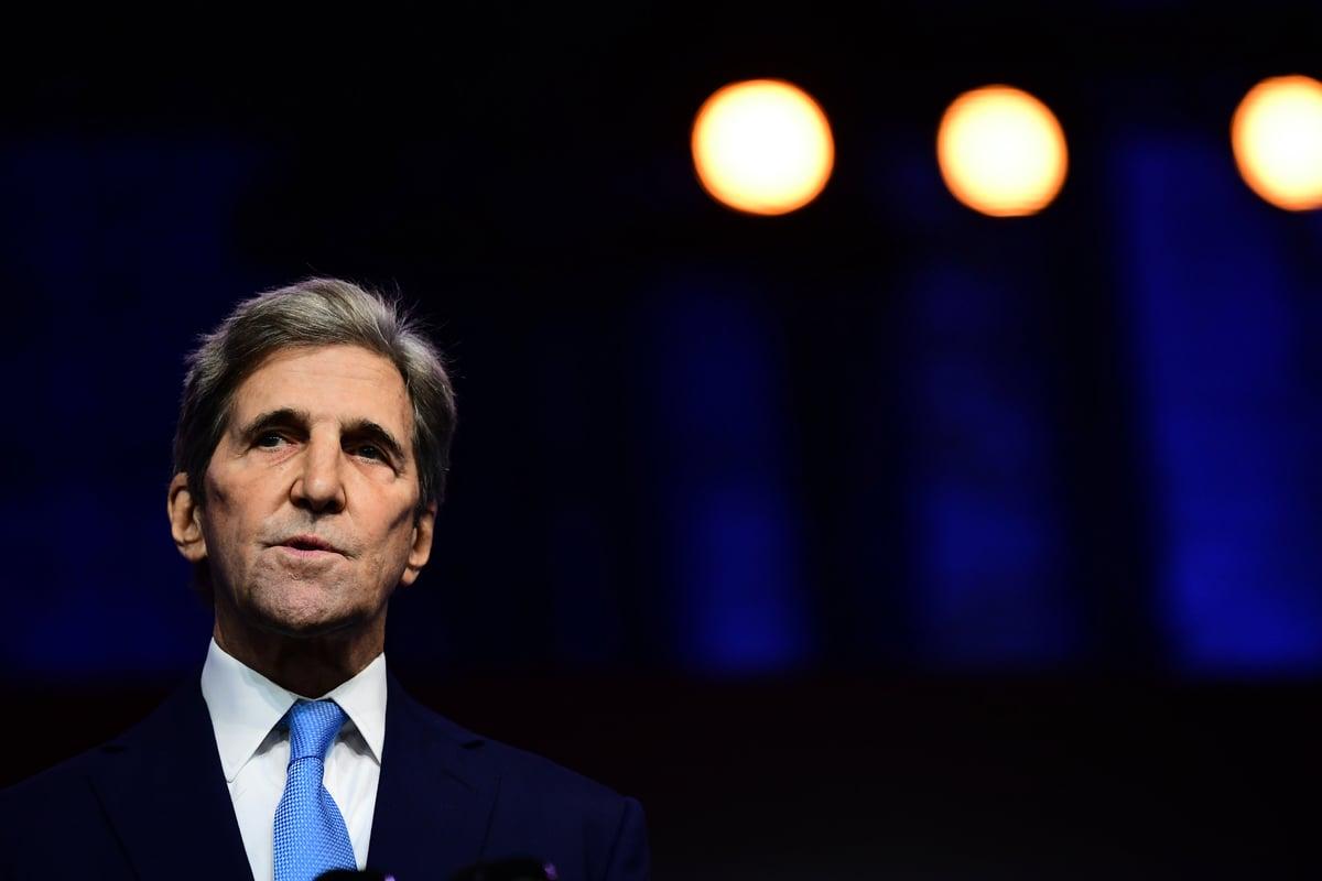 圖為美國氣候特使、前國務卿約翰·克里(John Kerry)。(Mark Makela/Getty Images)