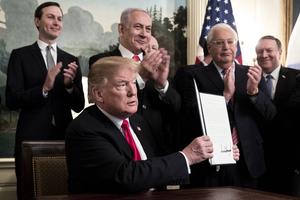 特朗普簽公告 正式承認以色列對戈蘭高地主權