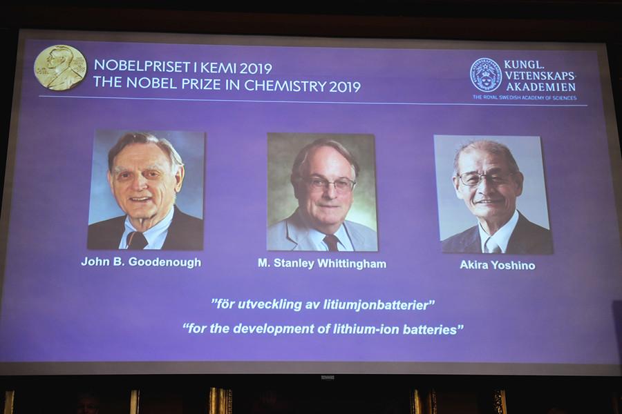 致力發展鋰電池 三科學家共獲諾貝爾化學獎