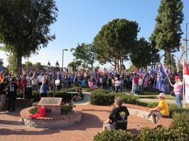 南加州民眾集會 「特朗普總統必贏得勝利」